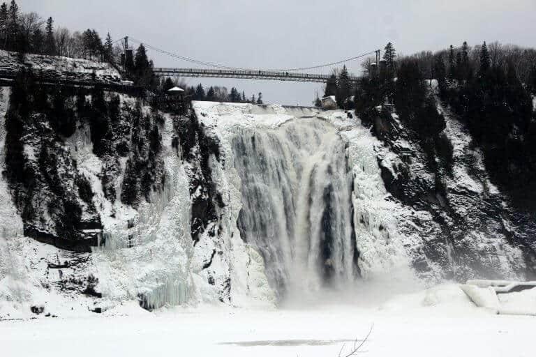 Montmorency Falls Park in Quebec Canada