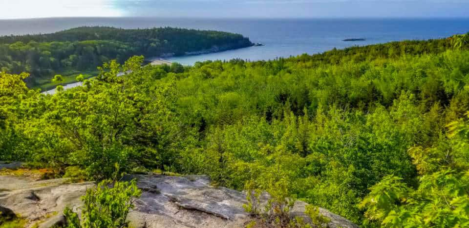 beehive acadia national park view from the top
