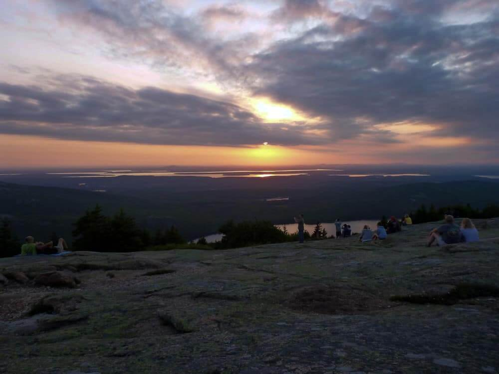 Sunset on Cadillac Mountain in Acadia National Park