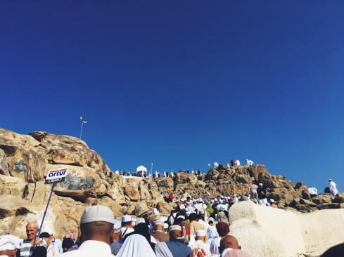 Climbing up Jabal Rahmah