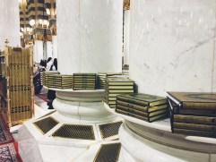 Al Quran placed in every corner of the mosque