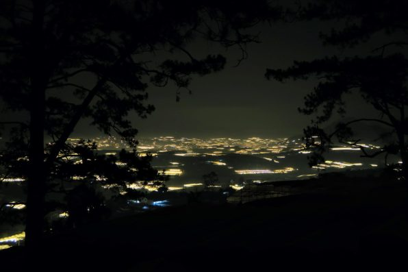 Green houses in Dalat during night