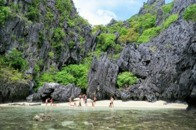 Secret beach in El Nido