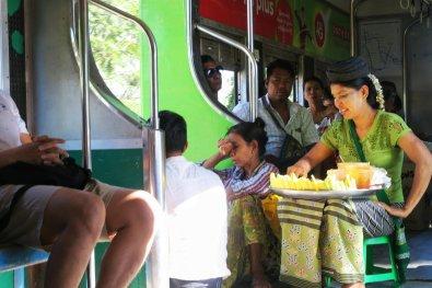 Vendors in the circular train
