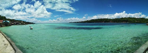 Clear water in Ceningan
