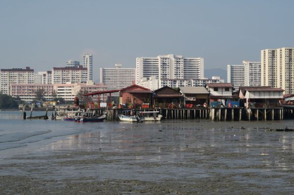 Floating village in George Town