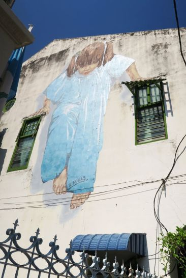 Street art by Ernest Zacharevic
