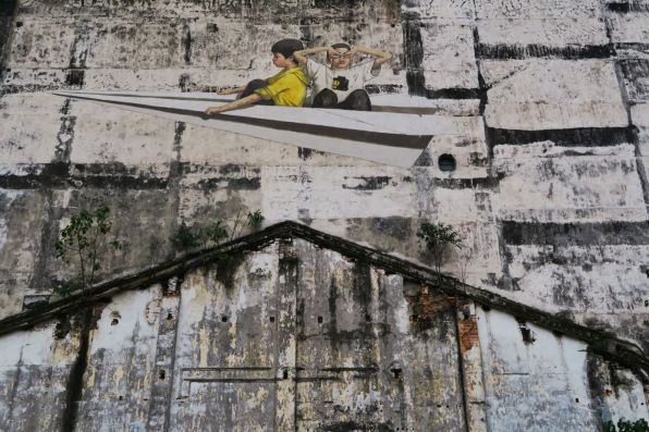 Wall mural by Ernest Zacharevic