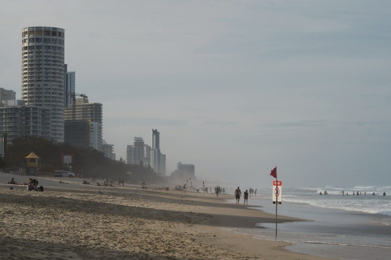 Beach in Surfers paradise