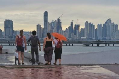 View of Panama City skyscrapers from Casto Viejo