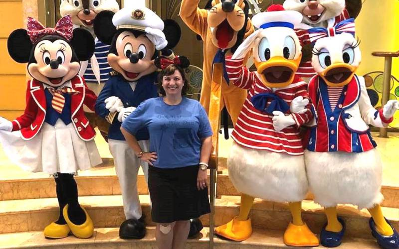 On the Panama Canal Cruise, DCL does some unique photo ops, including this one of Mickey and Friends.