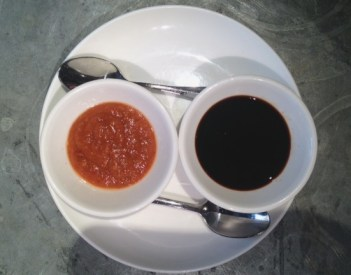 Chili sauce & soy sauce for dipping