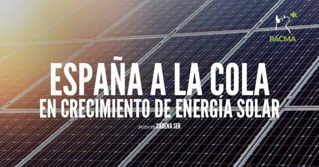 España a la cola en crecimiento de energía solar