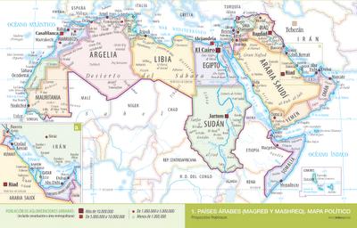 Cartografía: Mapa político de los países árabes