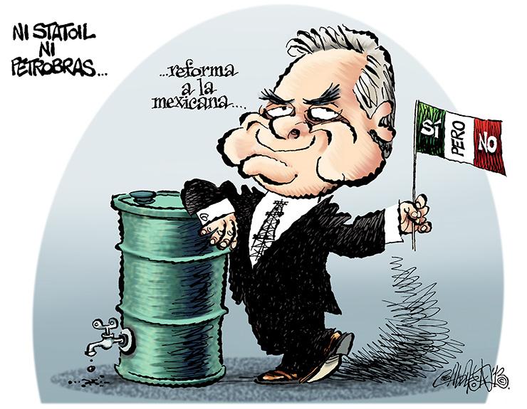 Ni Statoil ni Petrobras - Calderón