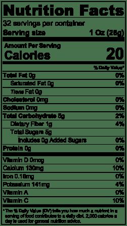 Nutrition Label Soursop Puree 32oz
