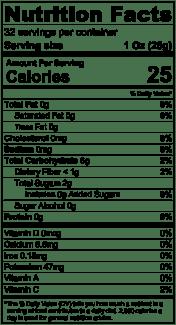Nutrition Label Mangosteen Puree 32oz
