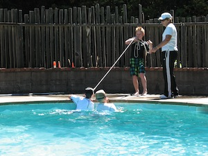 Boulder Creek Scout Reservation pool, learning water safety