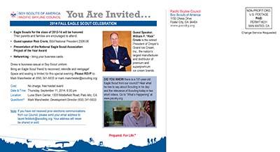 2014 Eagle Gathering postcard back