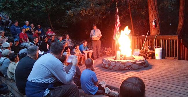 Boulder Creek Scout Reservation fire circle