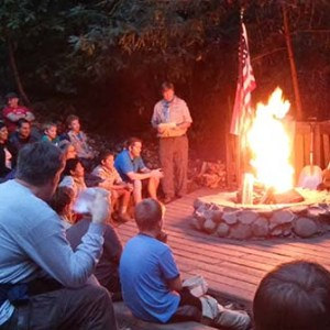 Boulder Creek Scout Reservation fire circle