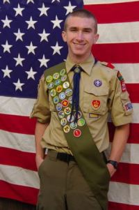 Zach Plante, Eagle Scout, Troop 222, Menlo Park, CA
