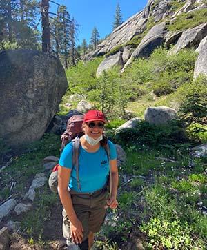 Kylie on a hike