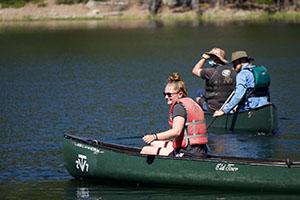Callie canoeing
