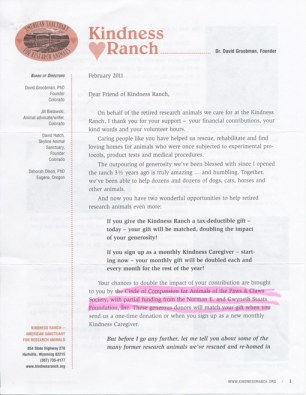 Kindness Ranch Newsletter