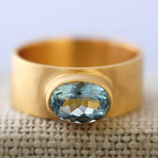 Ring mit Aquamarin