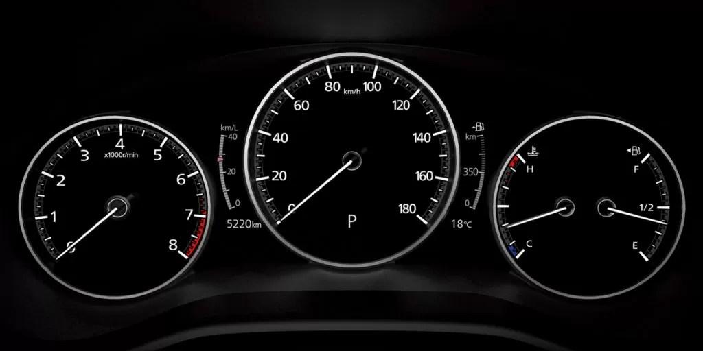 新型マツダ37インチマルチスピードメーター画像