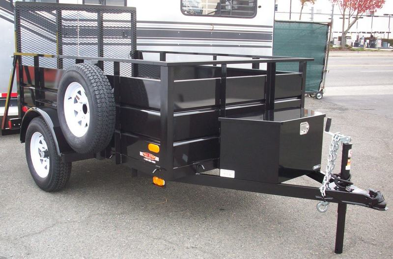 single axle utility trailers pac west