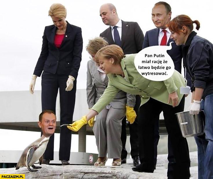 Znalezione obrazy dla zapytania Putin obejmuje Tuska