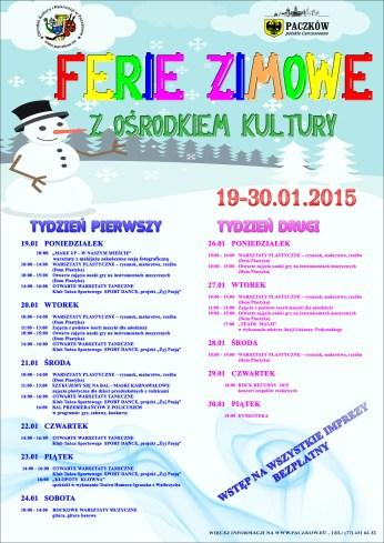 projekt na ferie zimowe 2015