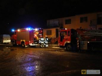 Pożar na ul. Poniatowskiego