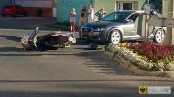 Wypadek na ul. Sienkiewicza. Audi potrąciło skuter