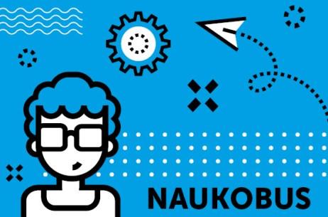 Naukobus - grafika z napisem