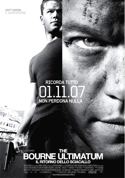 Locandina italiana The Bourne Ultimatum - Il ritorno dello sciacallo
