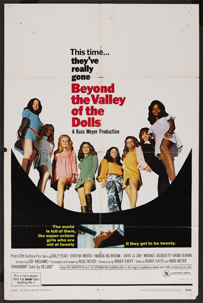 Locandina Beyond the Valley of the Dolls - Lungo la valle delle bambole
