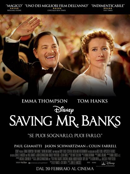 Locandina italiana Saving Mr. Banks