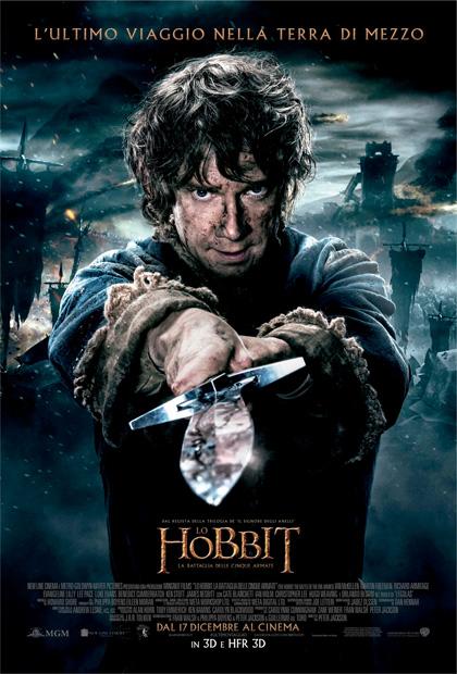 Locandina italiana Lo Hobbit - La battaglia delle cinque armate