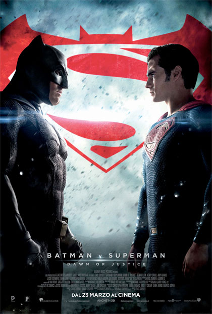 Locandina italiana Batman V Superman: Dawn of Justice