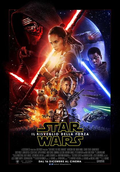 Locandina italiana Star Wars: Episodio VII - Il risveglio della forza