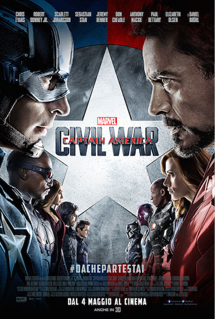 Locandina italiana Captain America: Civil War