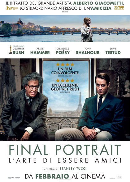 Locandina italiana Final Portrait - L'Arte di essere Amici