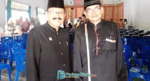Ketua LKAAM Adi Muaris Khatib Kayo dan Ketua KAN Talawi Alfasri Dt Abu Bakar. (tumpak)
