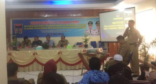 Penilaian Kompetisi Inovasi Pelayanan Prima Kota Padang. (derius)