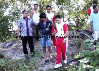 MS, yang diduga telah melakukan tindak percobaan pemerkosaan terhadap gadis di bawah umur diamankan Satreskrim Polres Mentawai. (ers)