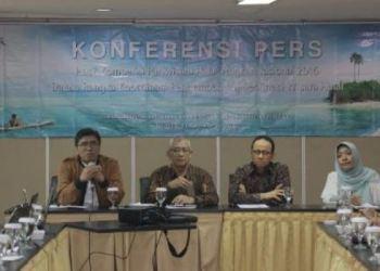 Konferensi Pers pengumuman Kompetisi Wisata Halal Nasional tahun 2016. (Kemenpar)