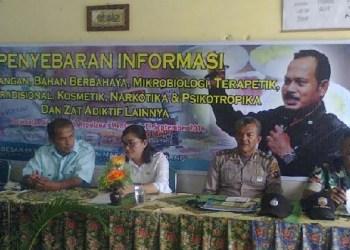 Sosialisasi produk pangan berbahaya oleh BPOM Sumbar di Sikakap, Kab.Kepulauan Mentawai. (ers)
